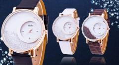 Zľava 75%: Dámske hodinky s presýpacími kryštálmi len za 4,99 € sú módnym doplnkom, ktorý doladí každý váš outfit. Kvalitný, elegantný dizajn, a luxusné detaily dokonalo ozdobia vašu ruku. Na výber v 3 farbách!