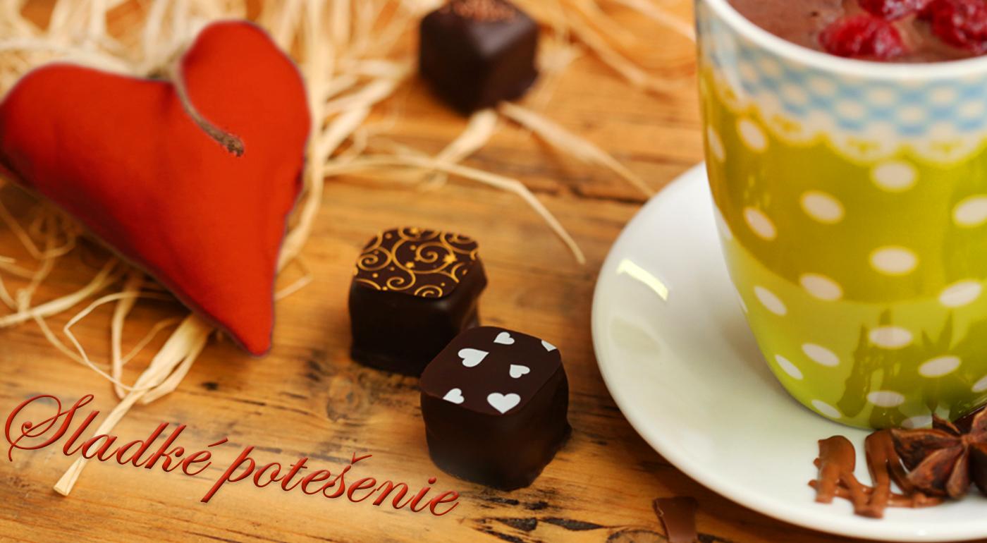 Ručne vyrobené čokoládové pralinky z pravej belgickej BIO čokolády
