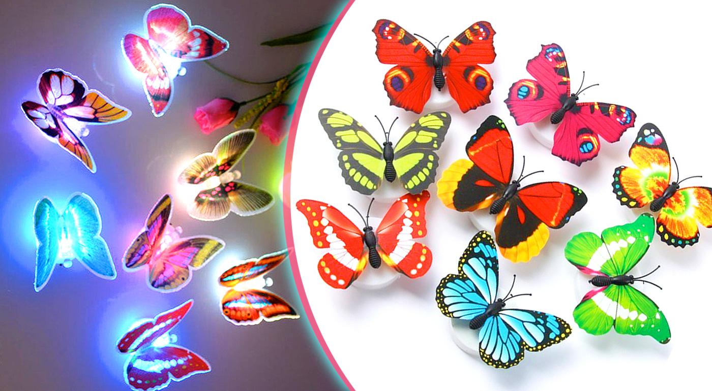 Originálna LED lampička v tvare motýľa