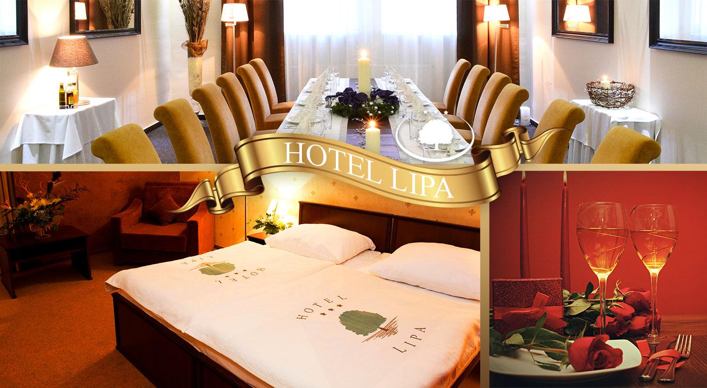 Magické chvíle priamo na Valentína v Hoteli Lipa*** v Starej Turej s raňajkami, slávnostnou večerou so sektom a romantickou atmosférou