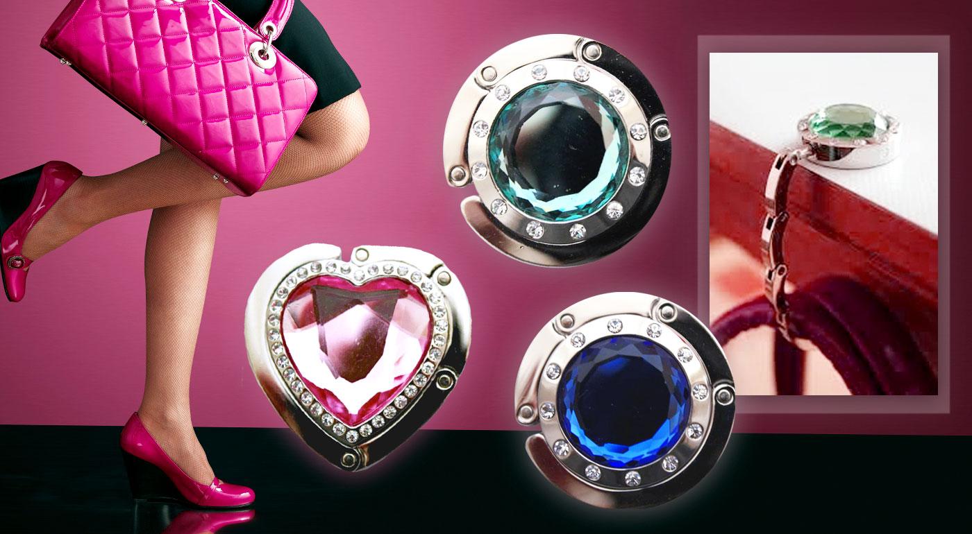 Praktický držiak na kabelky s elegantným dizajnom - na výber z 12 druhov