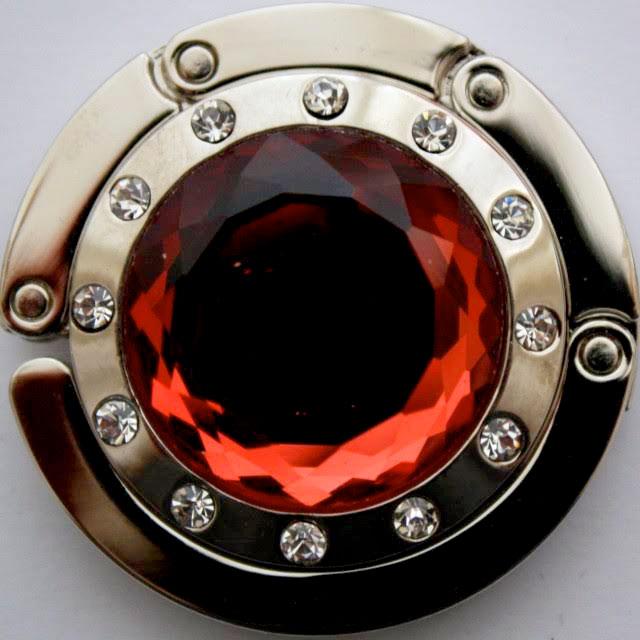 Držiak na kabelku - kameň červený