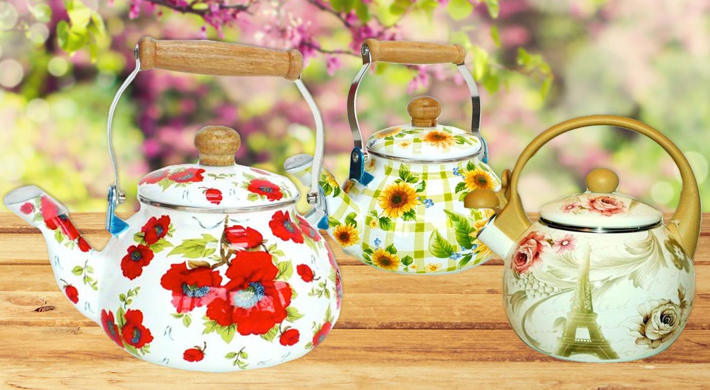 Kvalitný smaltovaný čajník FRICO a EDENBERG v klasickom prevedení - čajové seansy sa môžu začať!