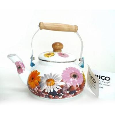 Smaltovaný čajník FRICO - gerbera
