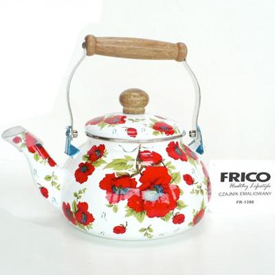 Smaltovaný čajník FRICO - ruža