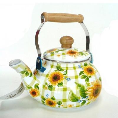 Smaltovaný čajník FRICO - slnečnica