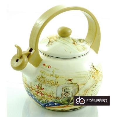 Smaltovaný čajník EDENBERG - Olio di Toscana