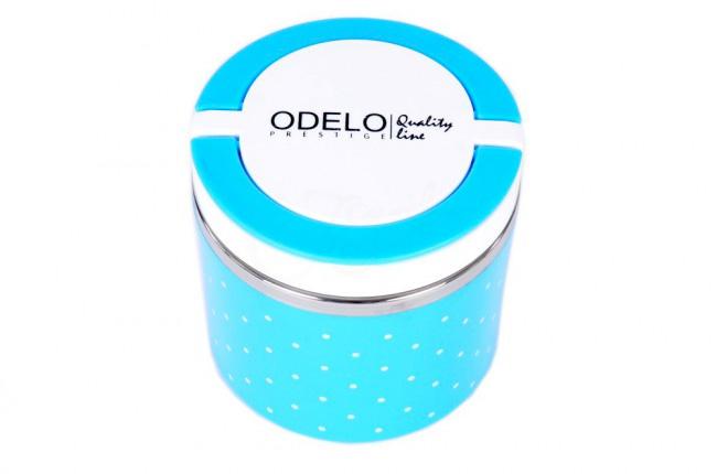 A3. Termoobedár nerezový 1-dielny ODELO model OD1283, objem: 630 ml  - modrý