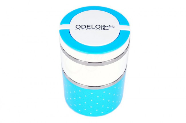 B3. Termoobedár nerezový 2-dielny ODELO model OD1286, objem: 930 ml  - modrá