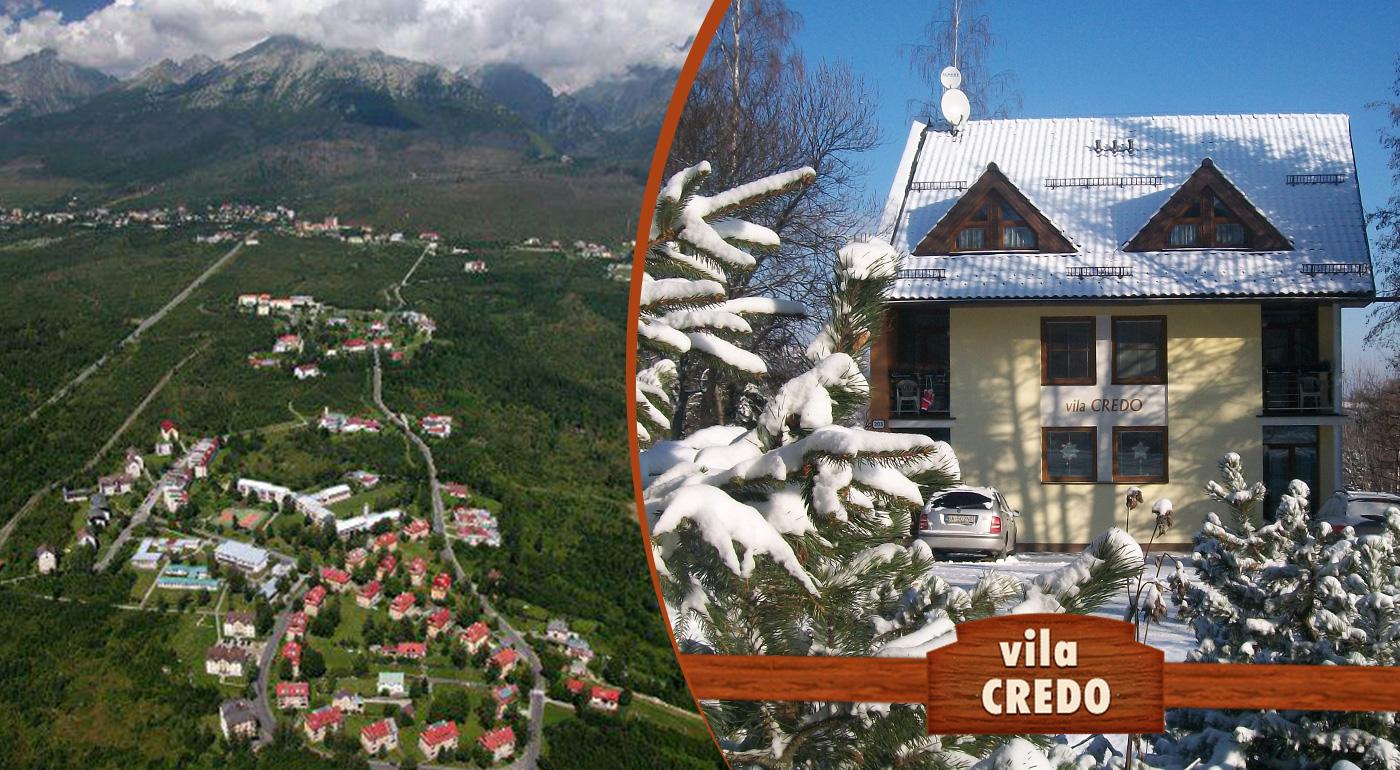 Fotka zľavy: Relax uprostred Vysokých Tatier len za 42 €. Hrejivá útulnosť Vily Credo na 4 alebo 5 dní dni v Dolnom Smokovci. Užite si čarovnú zimu alebo magickú jar v lone hôr.