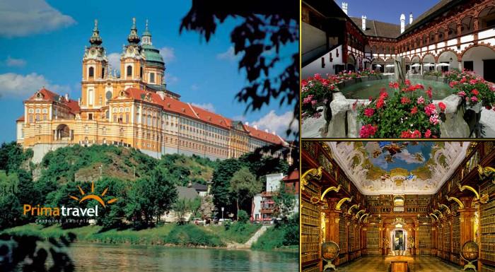 Fotka zľavy: Fascinujúci deň plný histórie - renesančný zámok Schallaburg a opátstvo v Melku. Užite si dychvyrážajúce historické pamiatky a prekrásne zámocké záhrady len za 22,90 €!