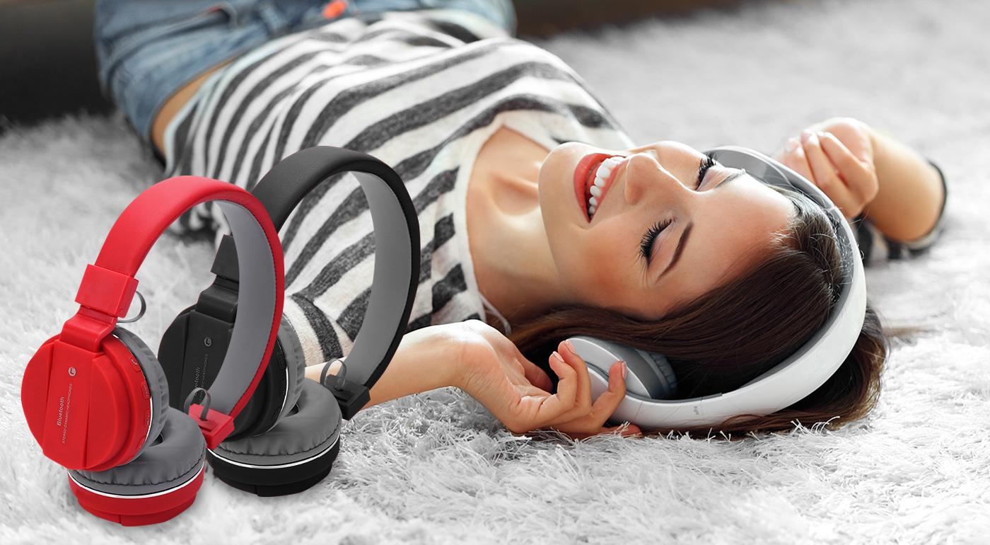 Bezdrôtové bluetooth slúchadlá s rádiom. Na výber v 3 farbách