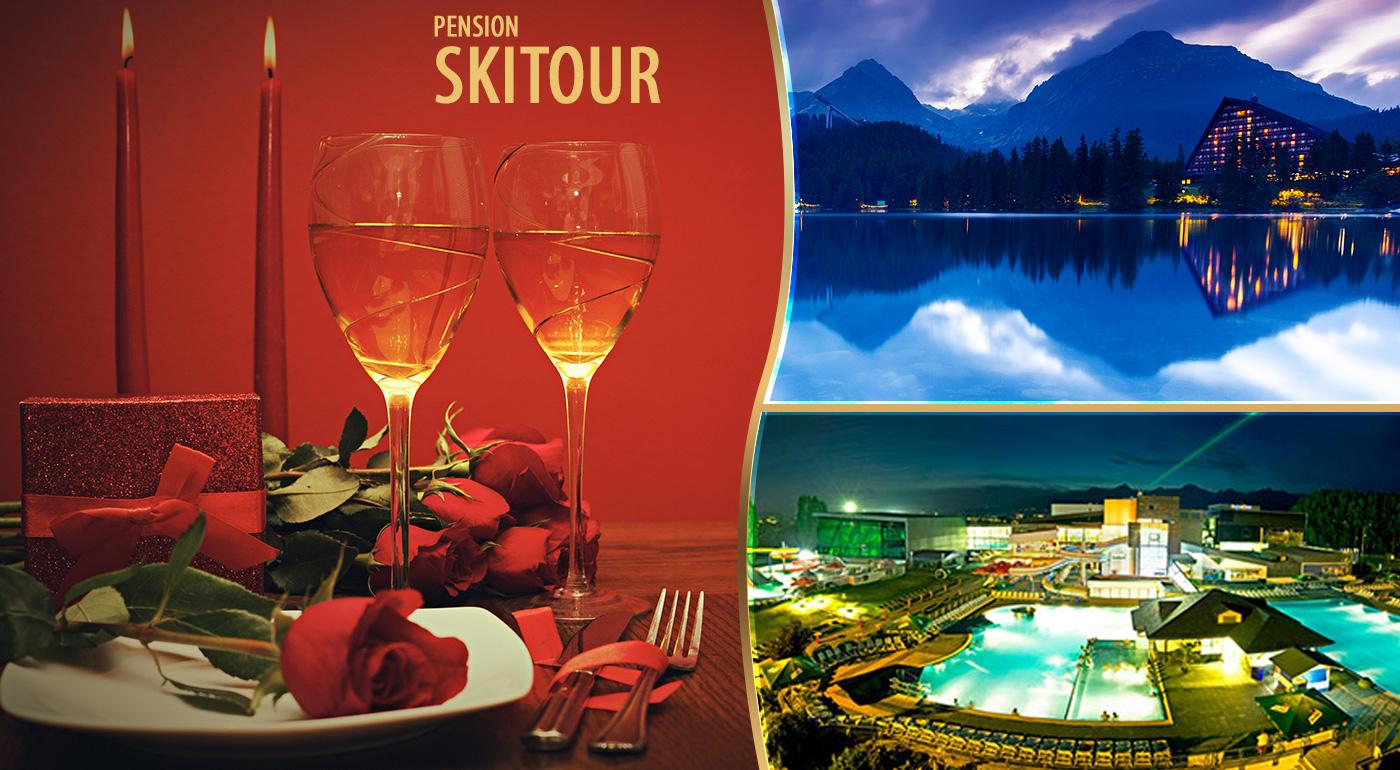 Oddych vo Vysokých Tatrách v Penzióne Skitour**+ na 3 dni so vstupom do aquaparku