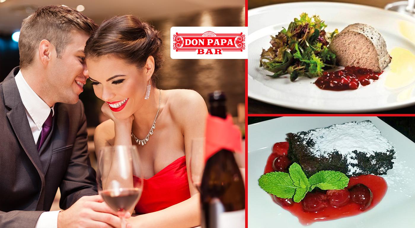Neopakovateľný pôžitok z chutí v Don Papa - kompletné slávnostné menu pre dvoch