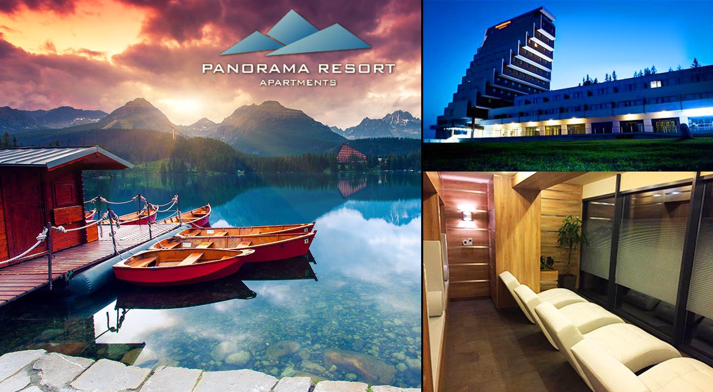 Tatranský relax v hotelovo-apartmánovom rezorte Panorama s výhľadom na hory