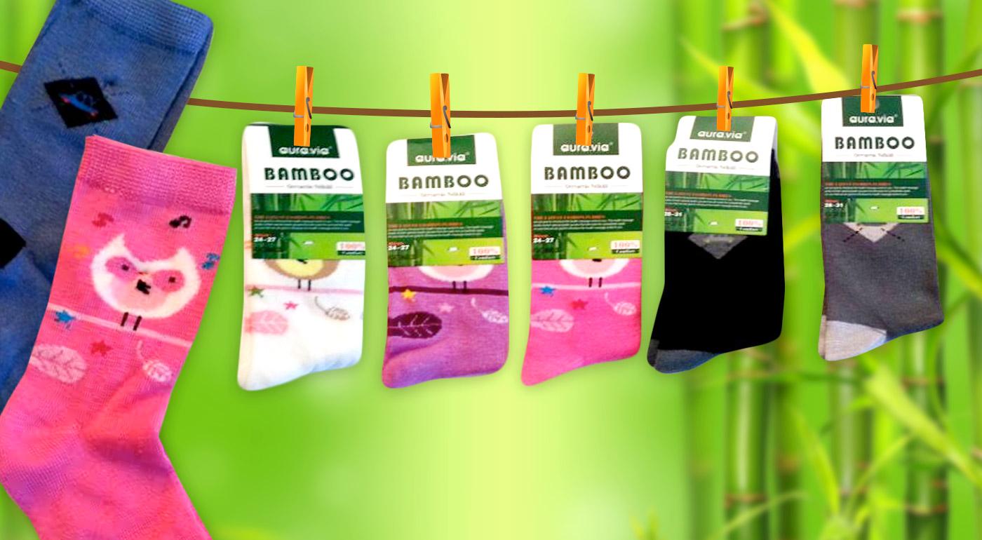 Mäkučké detské ponožky z bambusového vlákna