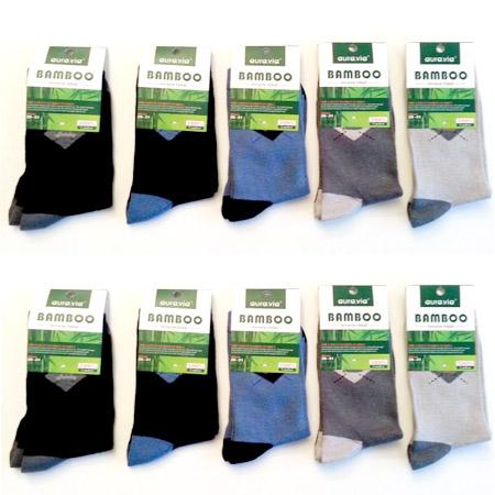 Chlapčenské ponožky z bambusového vlákna - v balení 10 párov