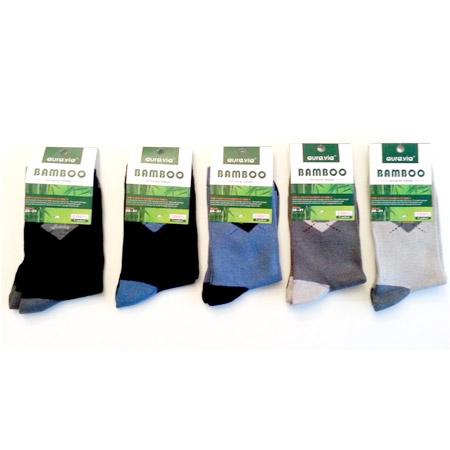 Chlapčenské ponožky z bambusového vlákna - v balení 5 párov