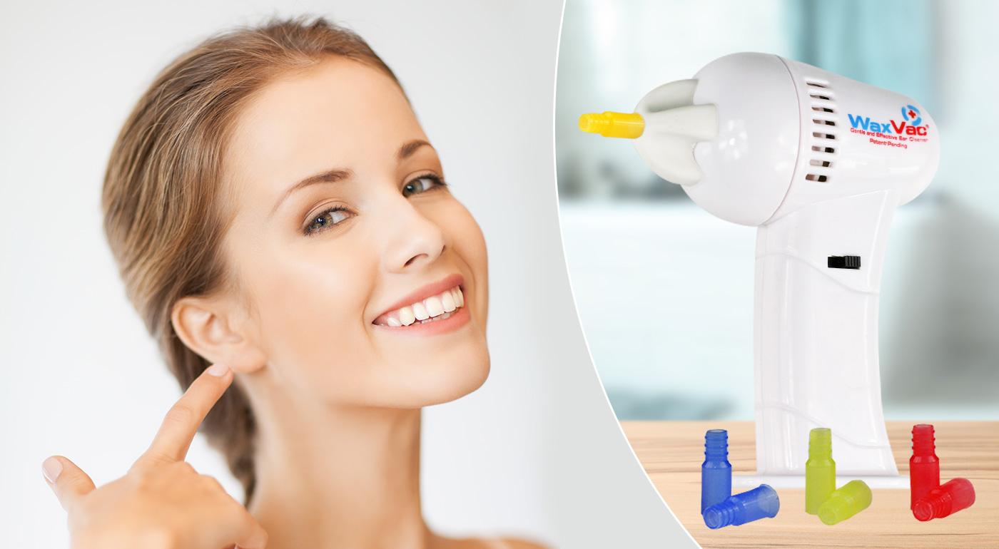 Profesionálny prístroj na bezpečné a jemné čistenie uší WaxVac