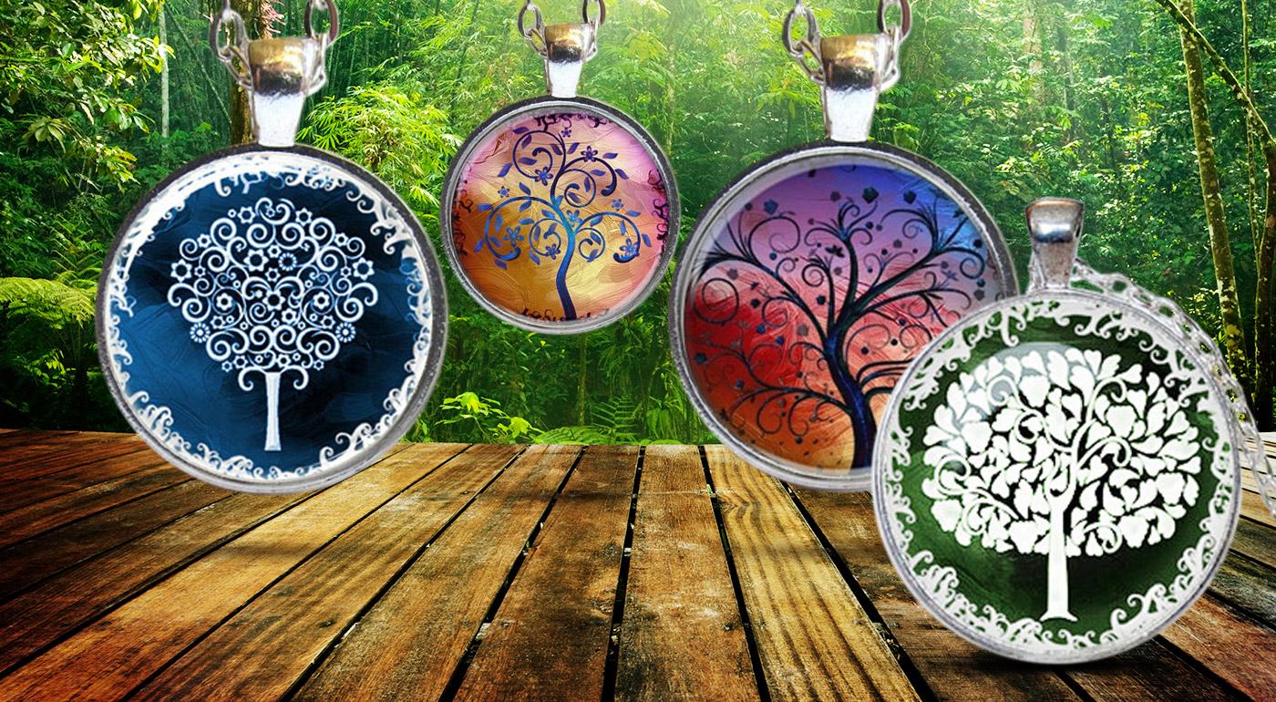 Dámska strieborná retiazka s príveskom Strom života - 4 varianty