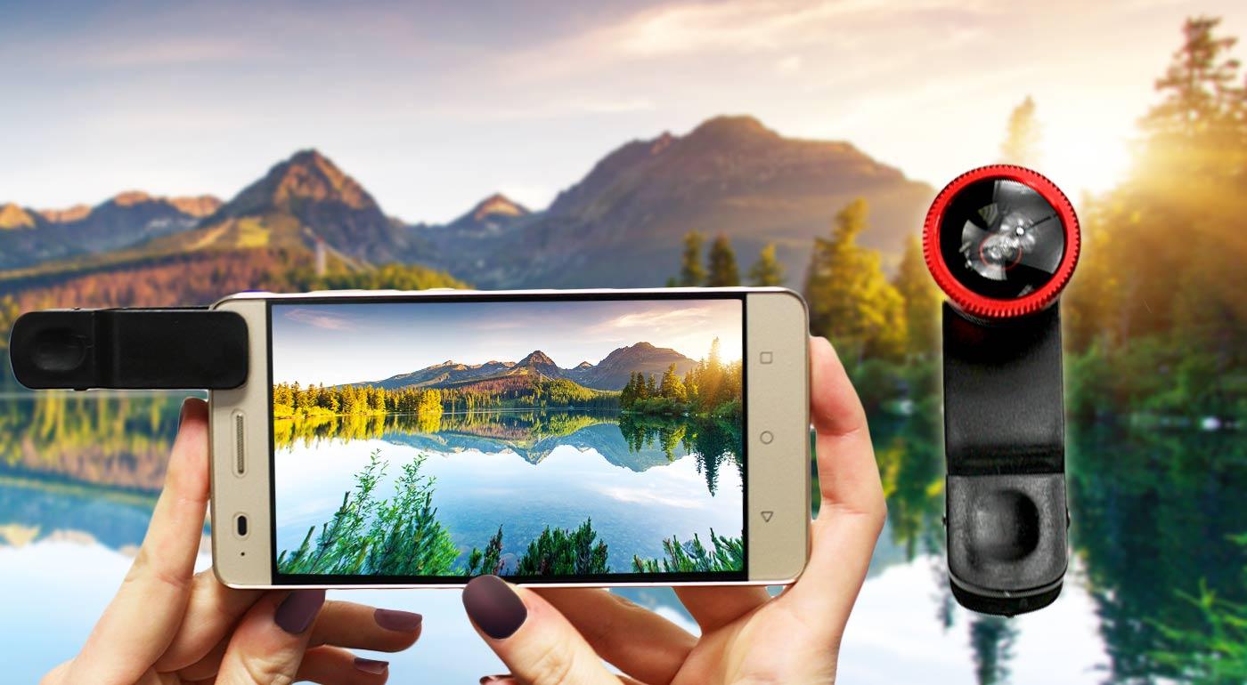 Sada objektívov s univerzálnym klipom na prichytenie pre perfektné fotografie!