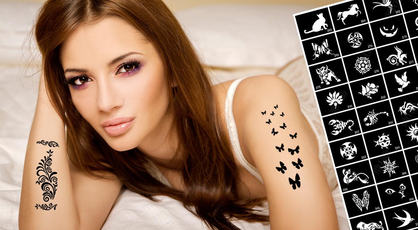 Perfektné dočasné tetovanie - na výber až 400 šablón