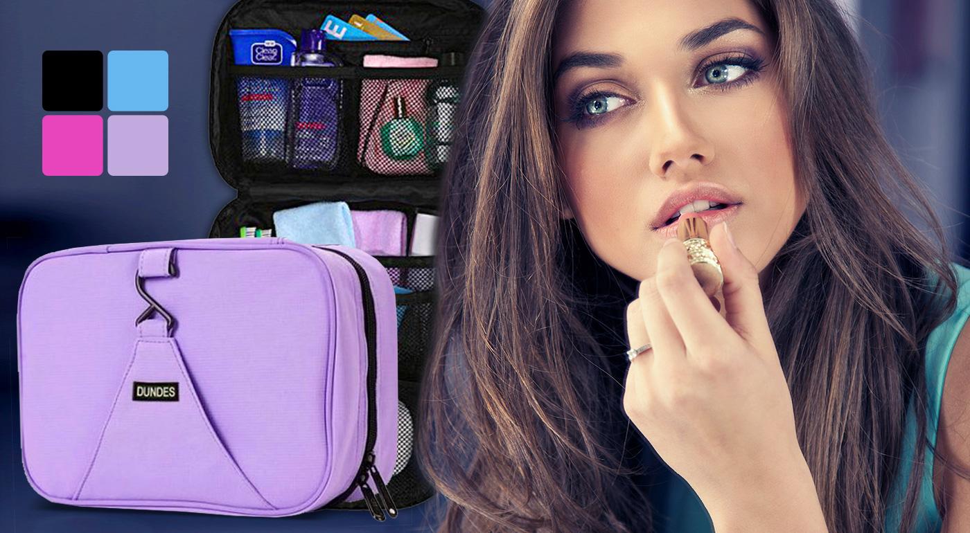 Praktický organizér na kozmetiku a doplnky - skladný a zavesiteľný