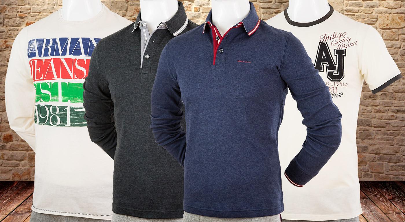 8861cf60c530 Trendové pánske tričká a polokošele svetovej značky Armani. Overená kvalita  za dostupné ceny!