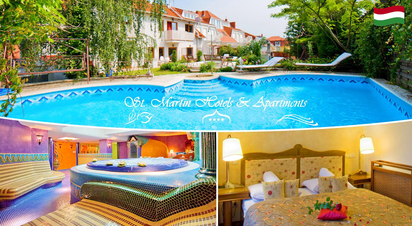 Fotka zľavy: Zažite orient v blízkom Maďarsku - jedinečný relax v luxusnom St. Martin Hotels Apartments**** pri termálnom jazere Hévíz len za 129 € pre dvoch na 3 dni s polpenziou a vstupom do exotického wellness!