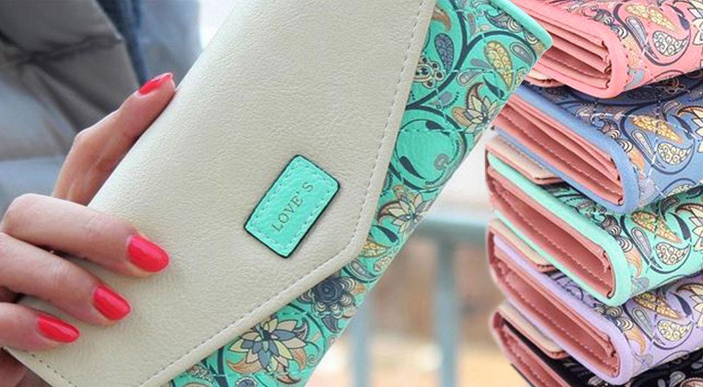 Dámska peňaženka Love's s ozdobným prešívaním