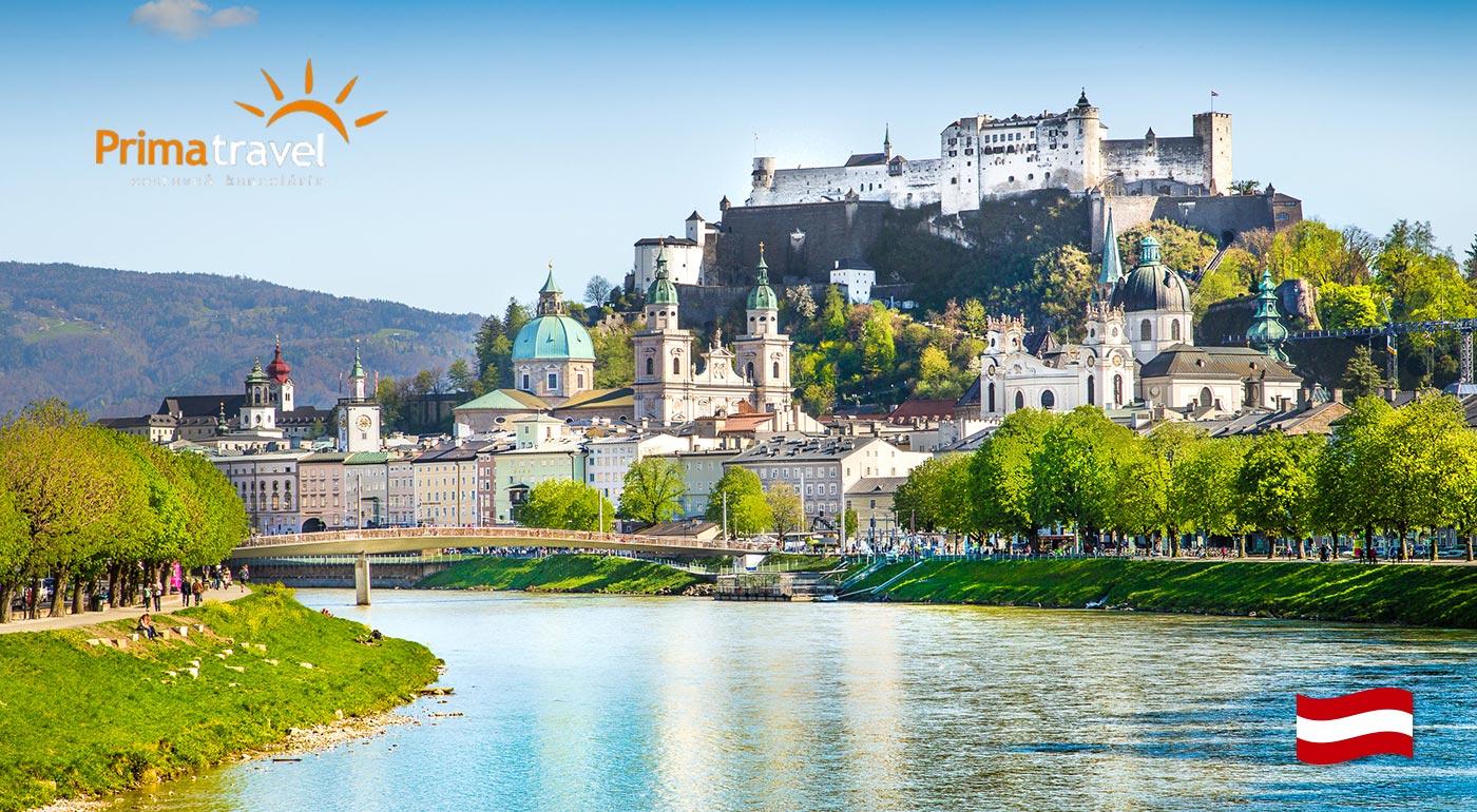 Dvojdňový výlet do rakúskeho Salzburgu - mesto Mozarta, s návštevou zámku Hellbrunn a s možnosťou plavby po Wolfgangsee