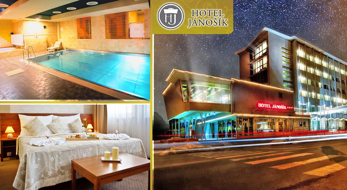 Hotel Jánošík**** na Liptove s polpenziou a wellness neďaleko Tatralandie