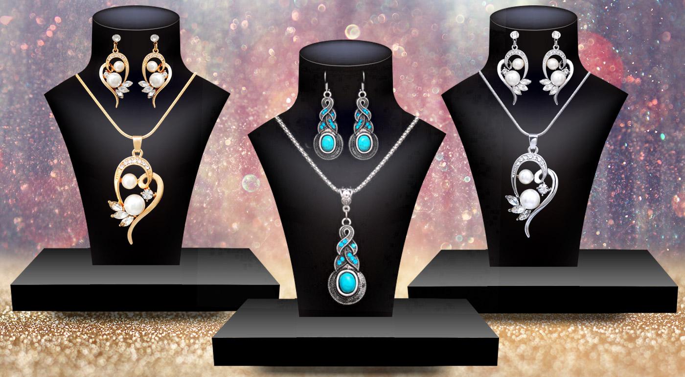 d650f5bbb Krásne sety šperkov - prívesok a náušnice, na výber 3 druhy