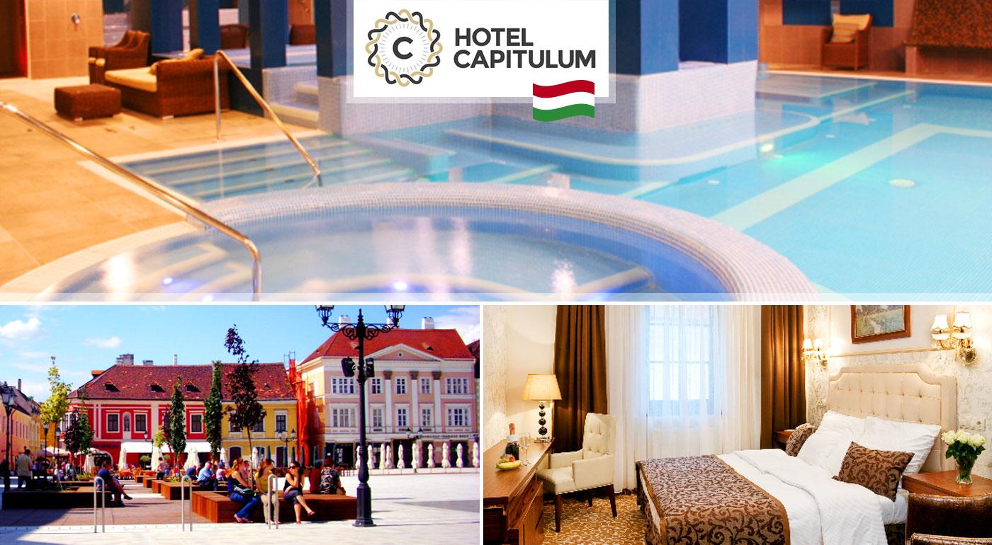 Wellness rozmaznávanie pre dvojicu na 3 dni v Hoteli Capitulum**** v centre Győru