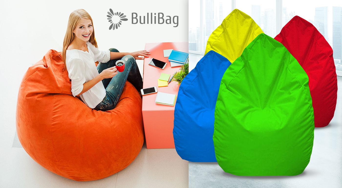 Štýlový sedací vak hruška BulliBag - na výber až 13 farieb