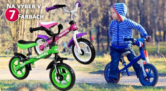 Zľava 45%: Už malé detičky naučíte bicyklovať. S kvalitnými odrážadlami ART Speedy im to pôjde jedna radosť. Majú ľahkú, pevnú konštrukciu a sú vhodné pre deti od 3 rokov! Pre prvých 10 zákazníkov len za 29,90€!
