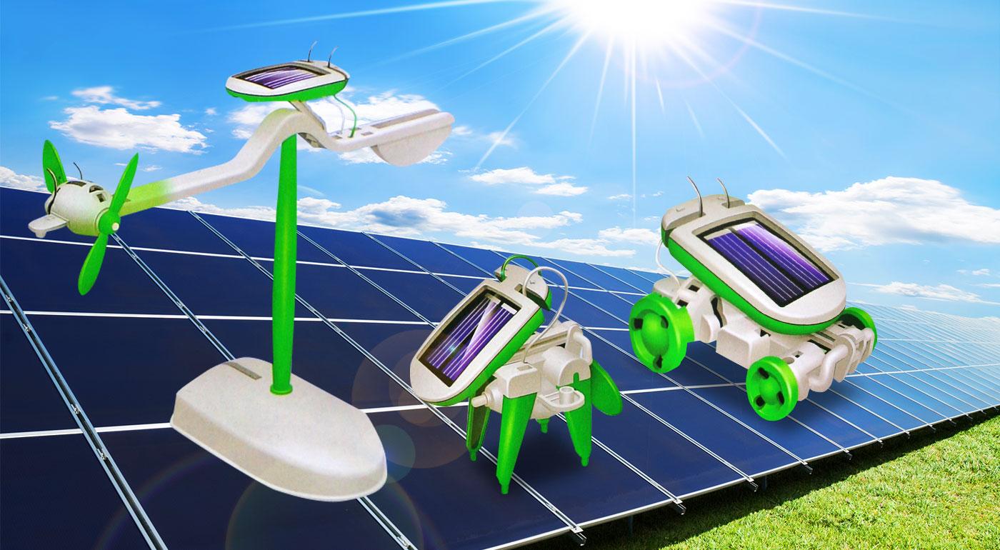 Zábavná solárna EKO stavebnica 6v1