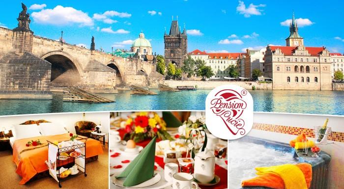 Fotka zľavy: Pozývame vás na romantický pobyt pre dvoch v Pensione Lucie**** v Prahe. Zrelaxujte spolu v súkromnom wellness s fľašou sektu a tešte sa na raňajky, ktoré vám prinesú priamo do postele!