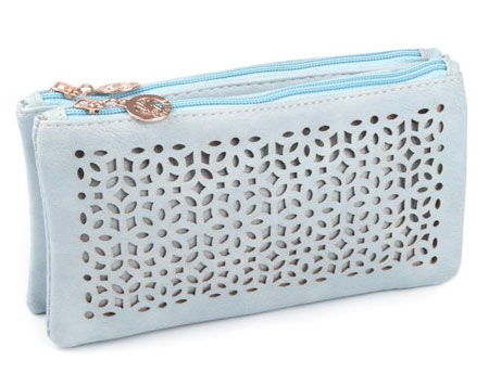 Listová kabelka Kvety - modrá