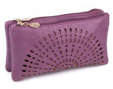 Listová kabelka Mandala - fialová