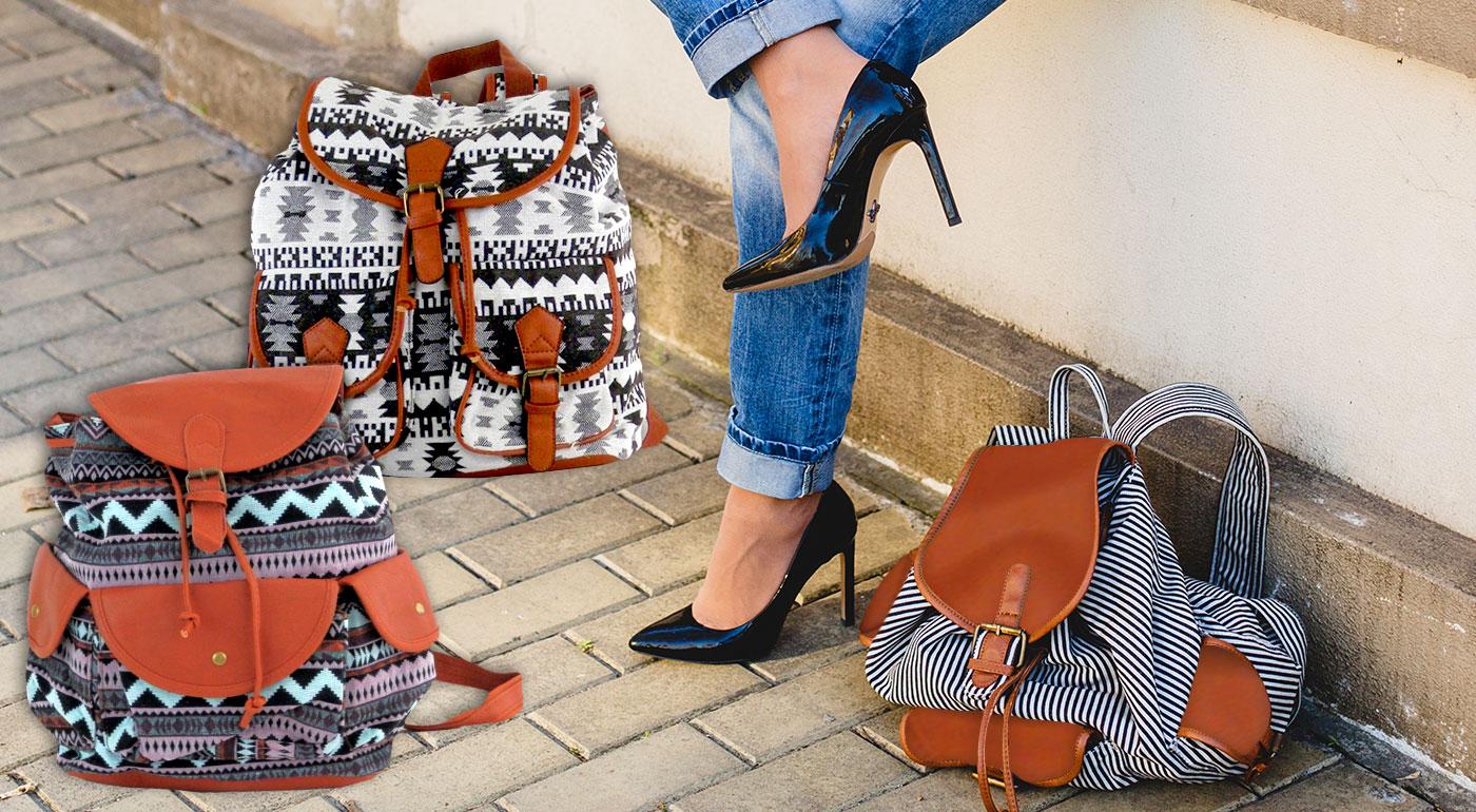 Štýlové dámske ruksaky vo vintage štýle - na výber z viacero vzorov