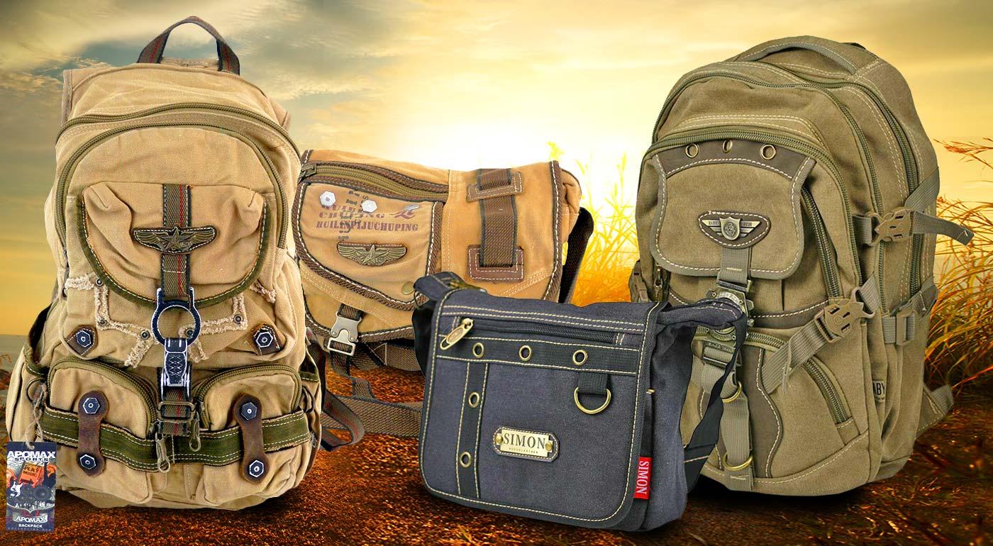 Cestovateľské tašky a batohy s vojenským vzorom