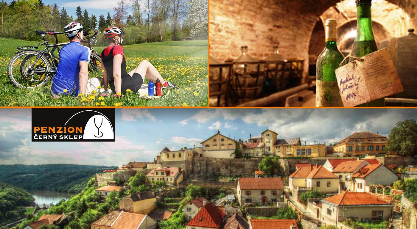 Fotka zľavy: Vinársky pobyt v Penzióne Černý sklep na južnej Morave neďaleko Znojma na 3 dni len za 78 € pre dvoch. V cene raňajky a zapožičanie bicyklov. Dieťa do 3 rokov zadarmo!