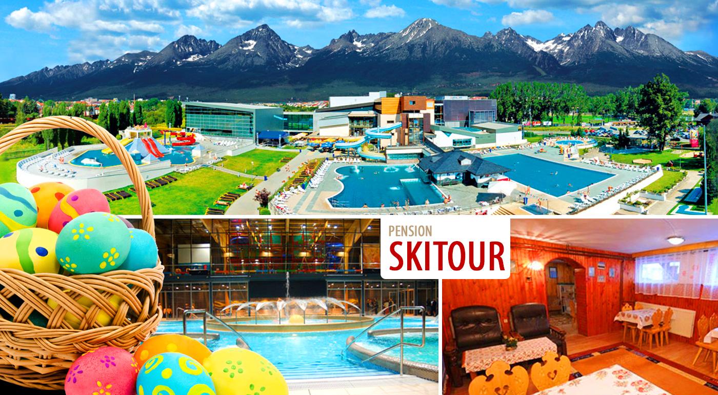 Päťdňový pobyt pod vrcholmi Tatier počas veľkonočných sviatkov v Penzióne Skitour**+ s celodenným vstupom do aquaparku