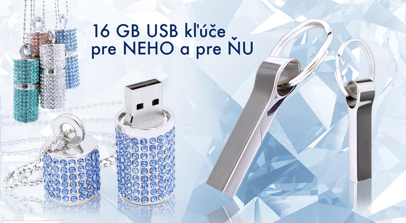 USB kľúče so 16 GB kapacitou pre NEHO a pre ŇU!