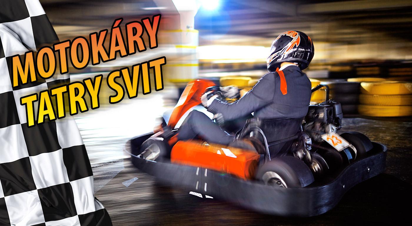 Fotka zľavy: Zažite šialenú jazdu plnú adrenalínu na motokárach len za 3,39 € na 8 minút v hale Motokáry Tatry Svit. Otestujte svoju obratnosť v zákrutách pri vysokej rýchlosti a rozdajte si to so svojou partiou!