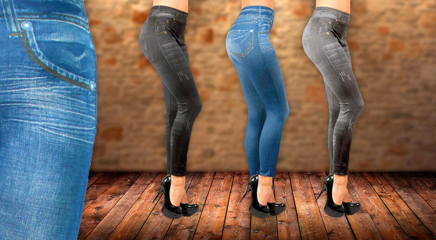 Elastické džínsové legíny - v balení 3 kusy