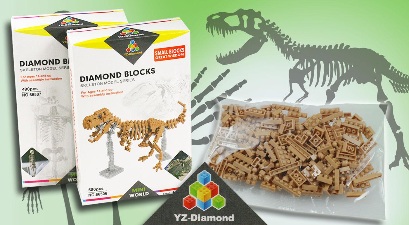 Kreatívna 3D stavebnica ľudská kostra alebo kostra dinosaura