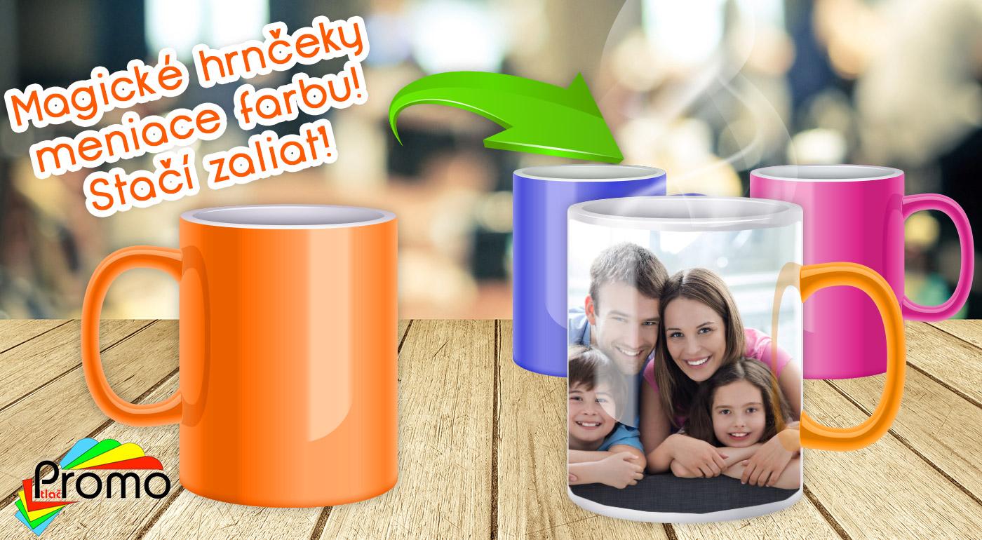 Magický hrnček s vlastnou fotografiou v žiarivých farbách!