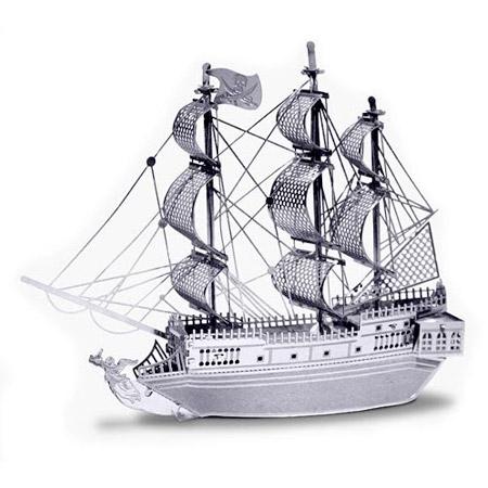 3D kovové puzzle - pirátska loď Čierna perla